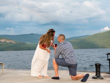 Sagamore Resort Surprise Proposal, Lake George, NY: Bryan & Sam