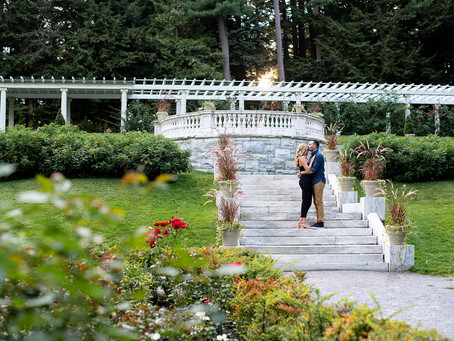 Katy & Nick's Engagement Session at Yaddo Gardens in Saratoga Springs, NY