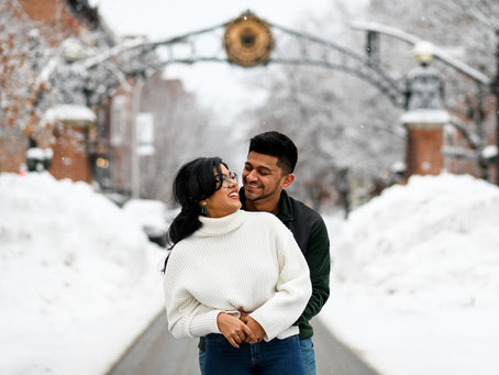 Padmaja & Ashwin's Engagement Session, Downtown Troy, NY
