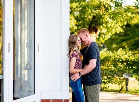 Colleen & Frank's Engagement Session in Congress Park, Saratoga Springs NY