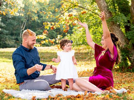 Autumn Family Photos in Thatcher Park, Albany, NY