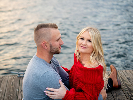 Taylor & Andy's Engagement Session in Schroon Lake, Upstate NY