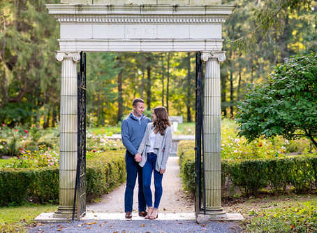 Abby & Drew's n. Fox Engagement Session at Yaddo Gardens in Saratoga Springs, NY