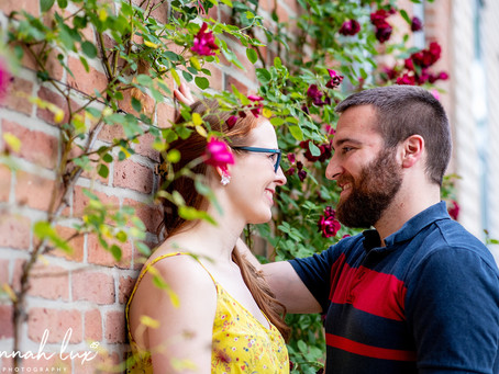 Liz & Dave's Engagement Session in the Stockade Historic District, Schenectady NY