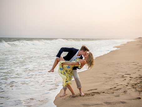 Madeleine & Dave's Egypt Beach Engagement Session, East Hampton, NY