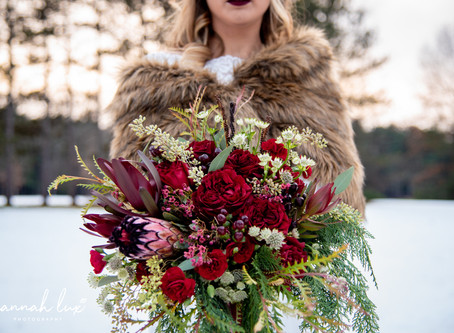Styled Winter Bridal Shoot