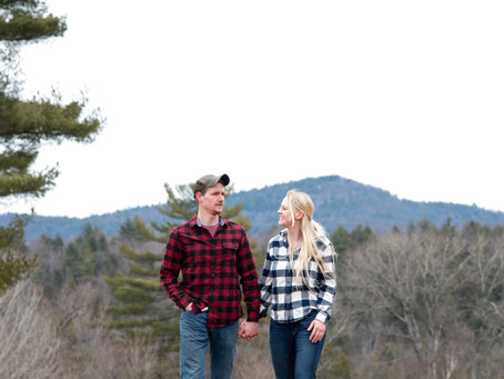 Cortney & Tyler's Engagement Session in Lake George, NY