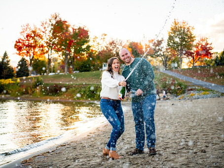 Morgan & Jack's Schroon Lake Engagement Session, NY