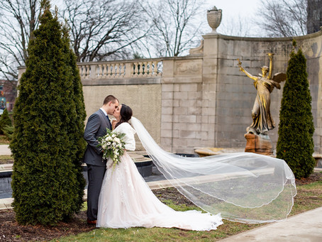 Jenn & Brendon's Winter Wedding in Downtown Saratoga Springs, NY
