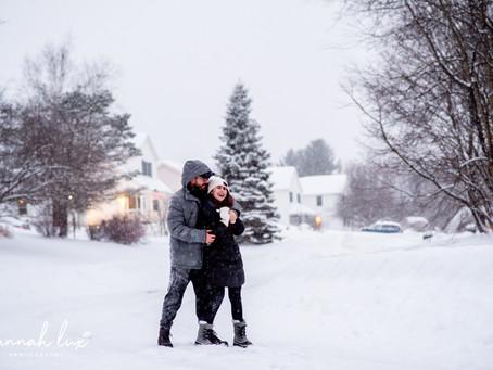 Kenzie & Matt during Winter Storm Harper