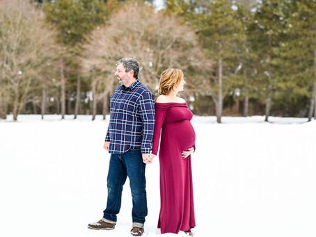 Adirondack Winter Maternity Session, Saratoga Springs NY