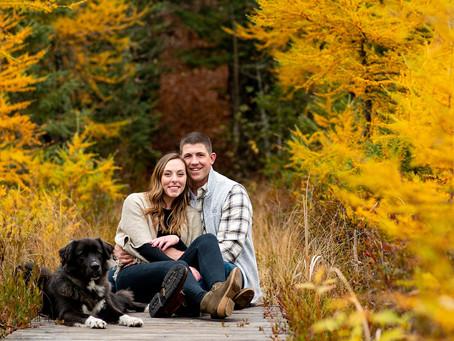 Emma & Connor's Adirondack Engagement Session, Lake Placid, NY