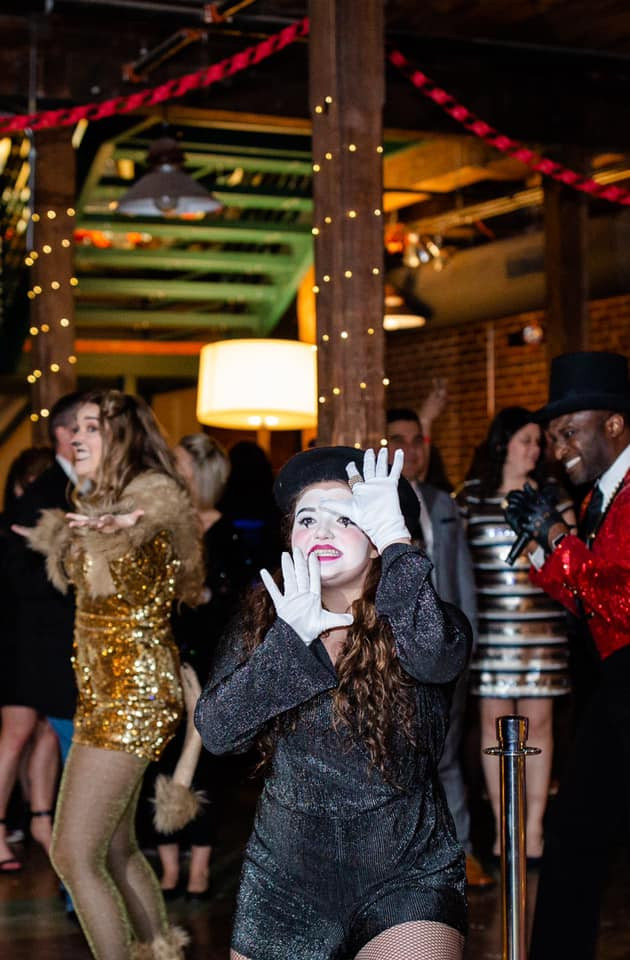 Alexandria Bagwell and Copeland Lewis in the opening number of The Market Theatre's 2020 New Years Eve Event