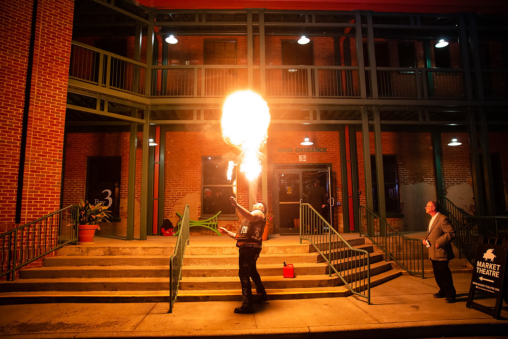 Fire breathing at The Market Theatre!