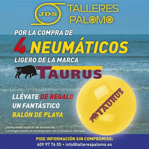 Llévate un balón de playa por la compra de 4 neumáticosTaurus