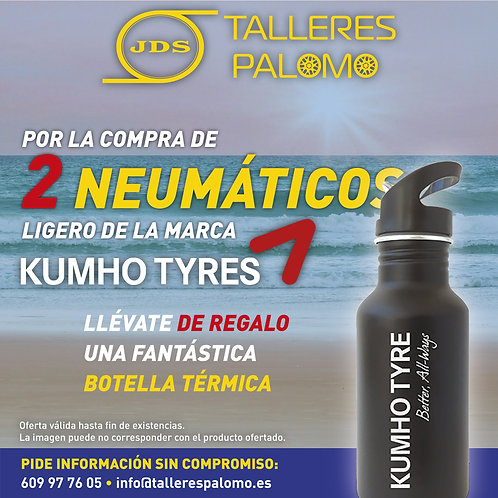 Llévate una botella térmica por la compra de 2 neumáticos Kumho Tyres