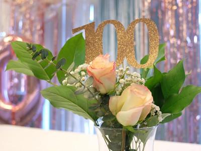 100th Birthday Centerpiece