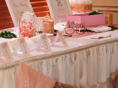 Baby Shower Games Table