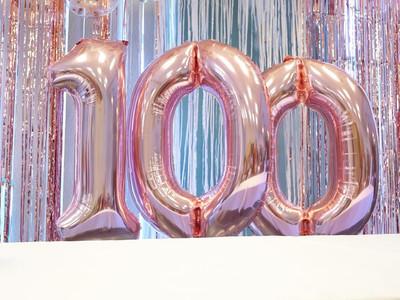100 Foil Balloons