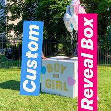 Custom Gender Reveal Box