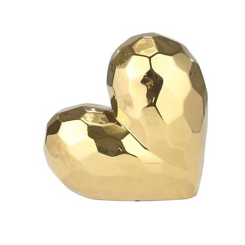 Gold ceramic heart
