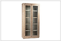 CABINET WITH GLASS SHELVES