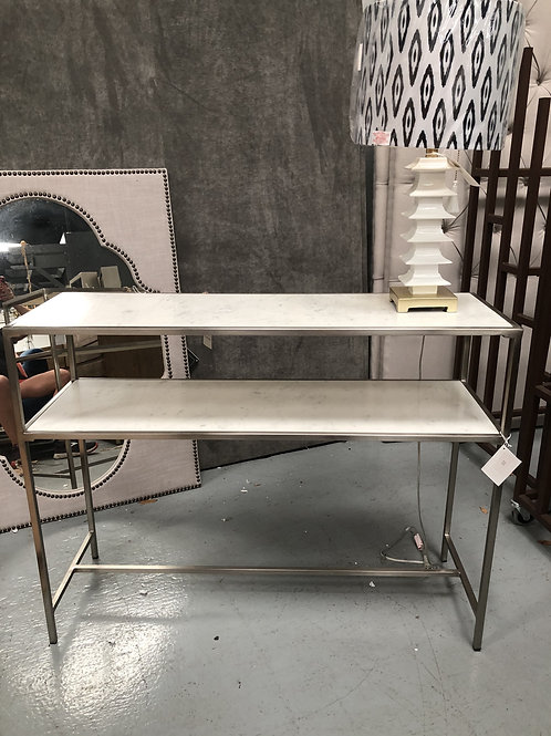 marble and silver console table