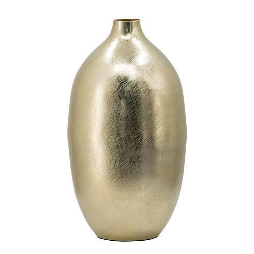 Brushed bronze vase - medium