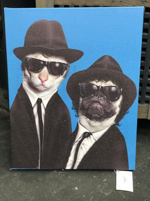 BLUES BROTHERS PET ART
