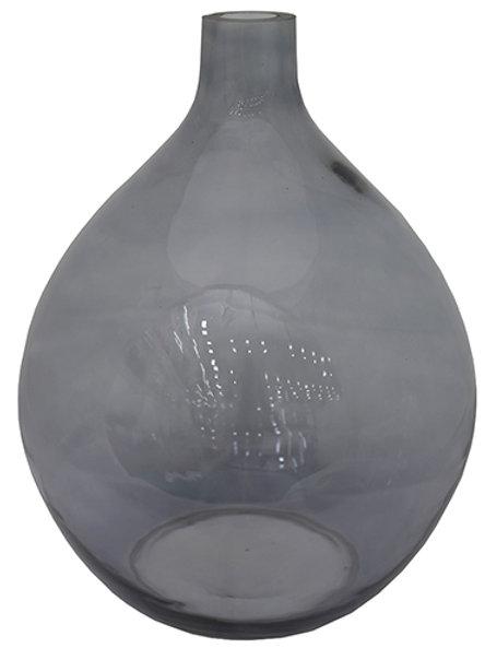 Grey glass jar