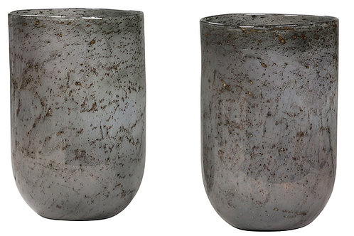 GLASS CYLINDER - SET OF 2
