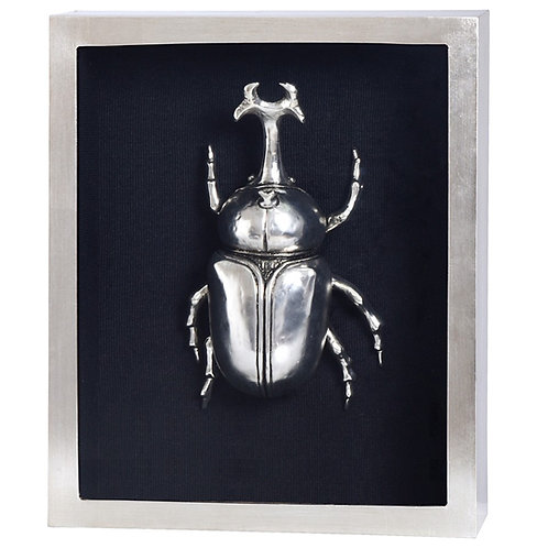 SILVER BEETLE FRAMED ART III