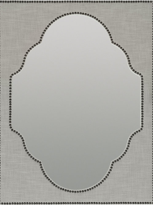 linen wrapped mirror