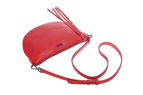 "Crossbody Bag ""The LoriAnn Half Moon - Red"""
