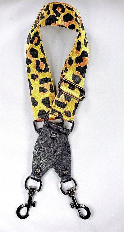 Purse Strap Gold Leopard