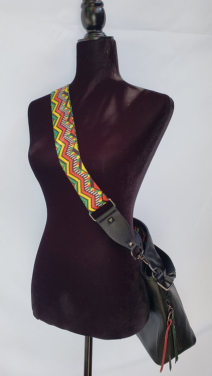 Purse Strap Red Green Yellow