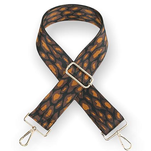 Purse Strap Leopard Print Dark Brown
