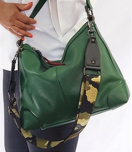 Purse Strap Green & Gold