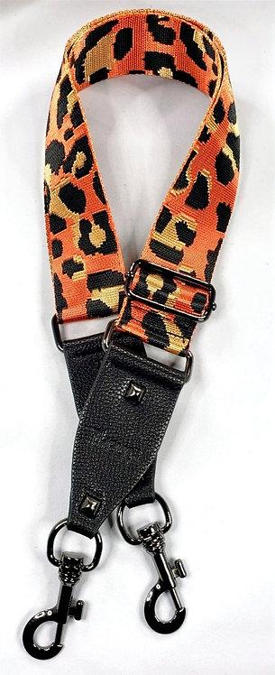 Purse Strap Orange Leopard