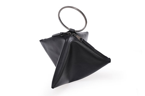 """Clutch Bag with ring handle """"The Ra Black"""""""
