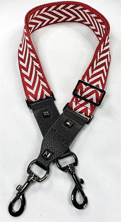 Purse Strap Red & White