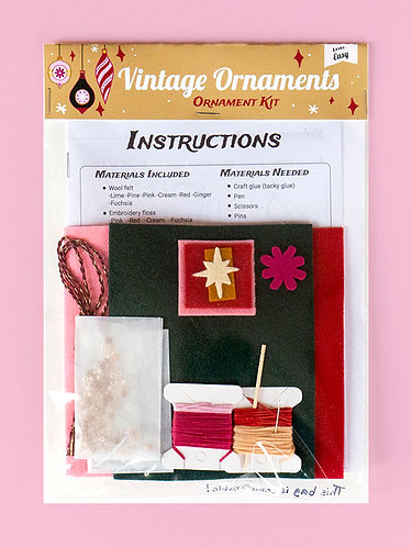 Vintage Ornaments- Ornament Kit