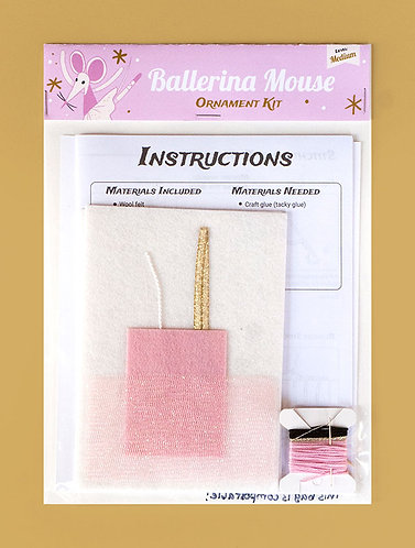 Ballerina Mouse- Ornament Kit