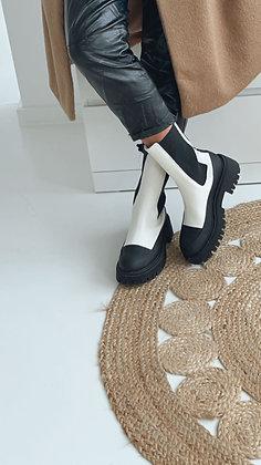 Boots - schwarz/weiß