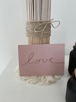Postkarte - love  yourself first
