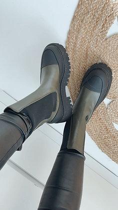 Boots - grün/schwarz
