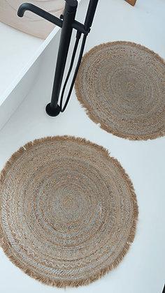 Teppich - silber
