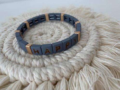 Armband-HAPPY hellblau