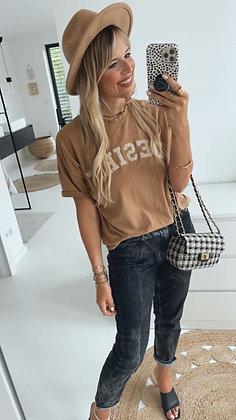 T-Shirt DESIRE - hellbraun