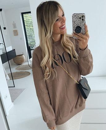 Pullover - GOOD VIBES braun